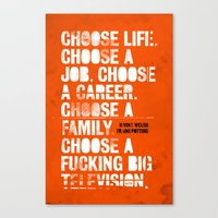 trainspotting Canvas Prints featuring Trainspotting by Damien Koh