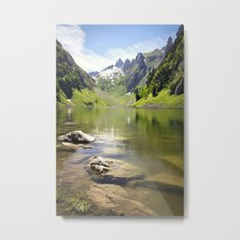 A summer cool off by the alpine lake Fallensee Metal Print