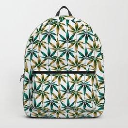 WEED LOVE, TEAL TAN Cannabis Smoke Marijuana Backpack
