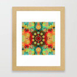 Dream bubbles and Patterns abstract Framed Art Print