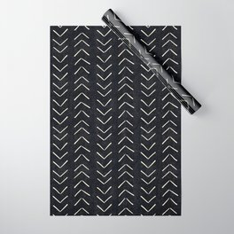 Mudcloth Big Arrows in Black and White Wrapping Paper