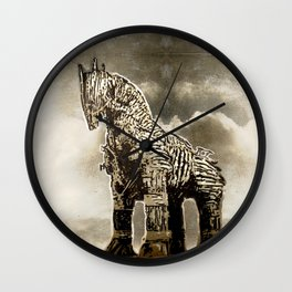 The TROJAN HORSE Wall Clock