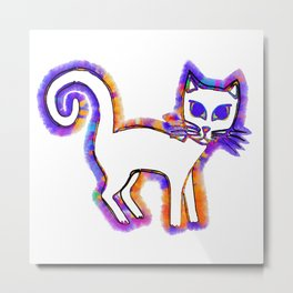 Any cat is a cat from his whiskers to his tail... Metal Print