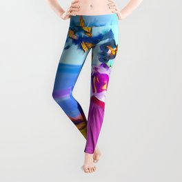 Robot Painting: Singularity Dream Leggings