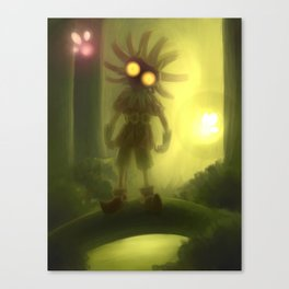 Skull kid in forest Canvas Print