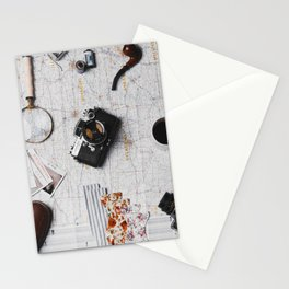 My Travels (Color) Stationery Cards