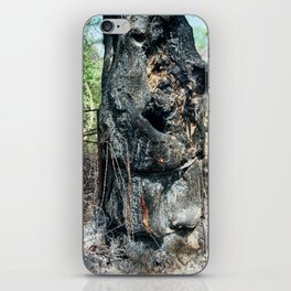 charred tree + wire (spring 15) iPhone Skin