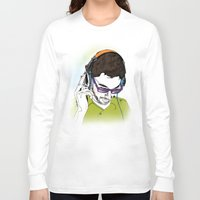 dj Long Sleeve T-shirts featuring DJ  by Vivian Gerber