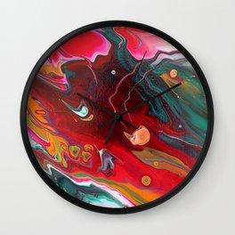 Meteor flow 12 x 12 Acrylic on Canvas Wall Clock