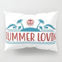 Summer Lovin Fun Quote Text Island Beach Pillow Sham