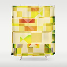 Deep Nature's Forlorn Cubic Dream Shower Curtain