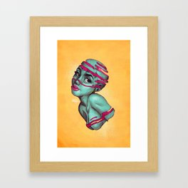 Fraught with draught Framed Art Print