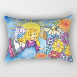 Angelic Flowers Rectangular Pillow