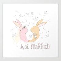 Just Married! Art Print