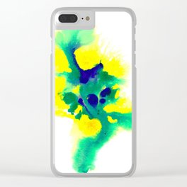 WATERCOLOR BRAZIL Clear iPhone Case