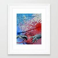 nico di angelo Framed Art Prints featuring Angelo by Dakota Rose