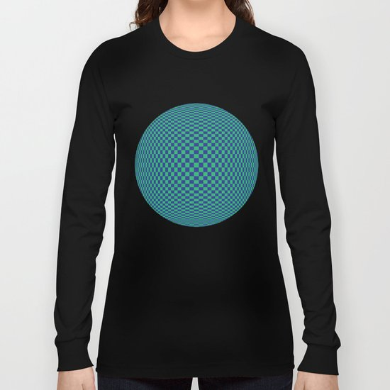 Green and Blue - Optical game Long Sleeve T-shirt