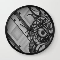 Gray Owl Wall Clock
