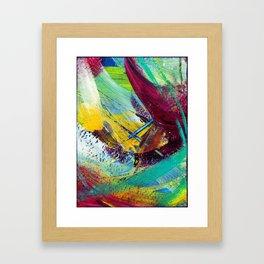 Blue X Framed Art Print