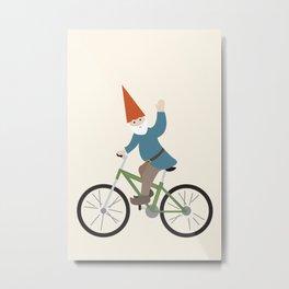 biker gnome Metal Print