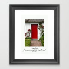 I Am The Door  (Red Door) Ireland Framed Art Print