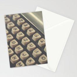 Closeup of vintage typewriter keys Stationery Cards