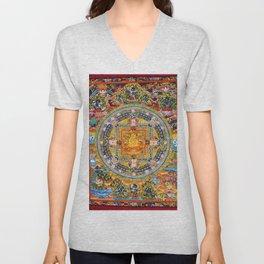Mandala Buddhist 2 Unisex V-Neck