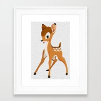 bambi Framed Art Prints featuring Bambi by MandiMccl