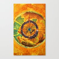 compass Canvas Prints featuring Compass by Jose Luis