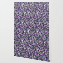 Ultraviolet Gemstone Cats Wallpaper