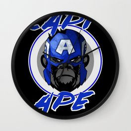 Captain Ape Wall Clock