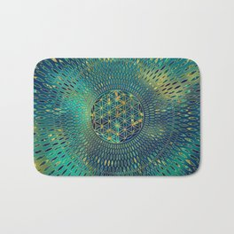 Flower of life Marble and gold Bath Mat