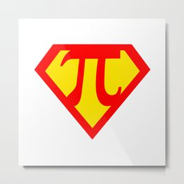 Super Pi day Math Superhero  Metal Print