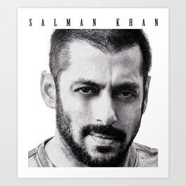 Salman Khan Art Print