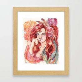 Fire Princess Framed Art Print