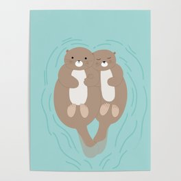 Otters Poster