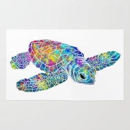 colorful Sea Turtle Rug
