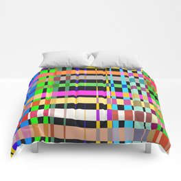 inclined coloured stripes Comforters