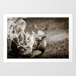 Those shoes are on fire... Art Print