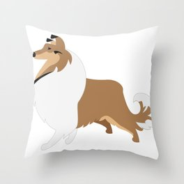 Collie Dog Throw Pillow