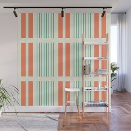 Ruptured Lines Wall Mural
