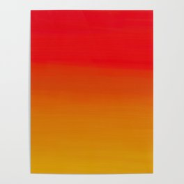 Red Apple and Golden Honey Ombre Sunset Poster