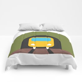 Underground Tunnel Train Emoji Comforters