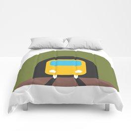 Underground Tunnel Train Emoji Comforters