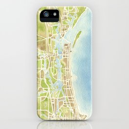 Biloxi Mississippi coast watercolor map iPhone Case