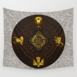 Ilvermorny Knot with House Shields Wall Tapestry