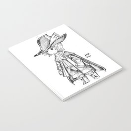 Red Mage - Black and White Notebook