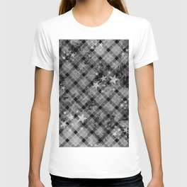 Plaid Stars Black T-shirt