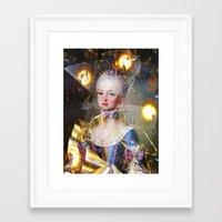 marie antoinette Framed Art Prints featuring Marie Antoinette by Ampersand Artworks (Ornery Owl Arts)