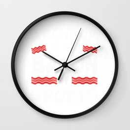 Archery is the Bacon of Sports Funny Wall Clock